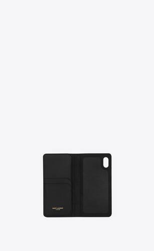 monogram iphone xs case in grain de poudre embossed leather