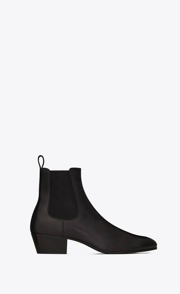 cole chelsea boots in smooth leather