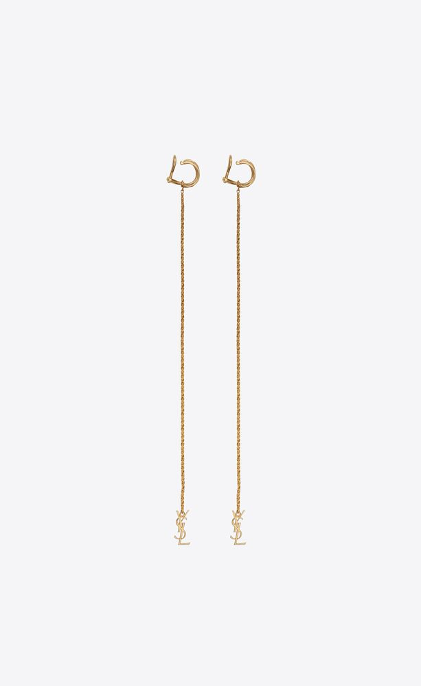 opyum monogram earrings in brass