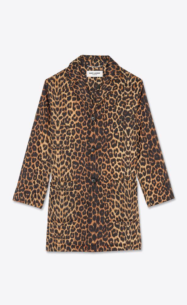 gepolsterter mantel mit leoparden-print
