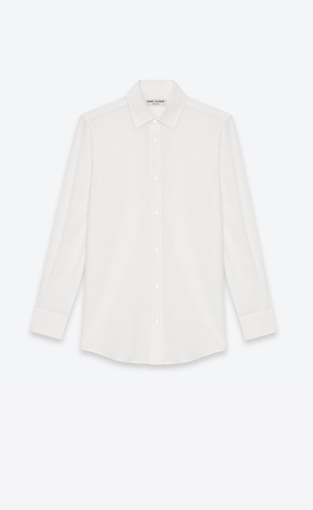 shirt in white silk crêpe