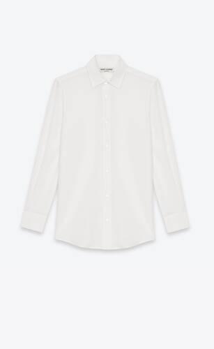 chemise en crêpe de soie blanc