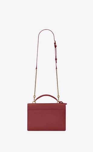 sunset medium satchel en cuir lisse