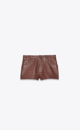 mid-rise shorts in lambskin