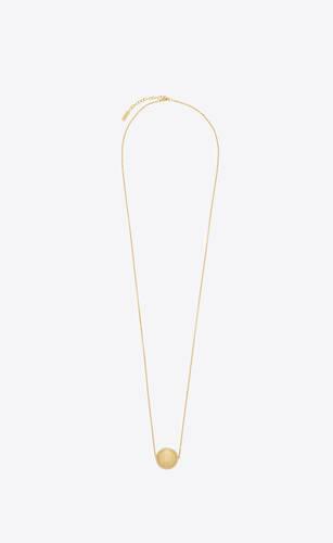 long collier sphère en métal