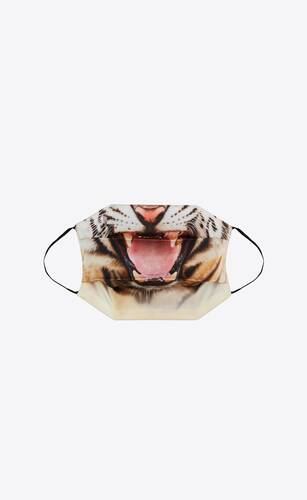 tiger print silk face mask