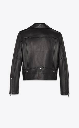 motorcycle jacket in plunged lambskin