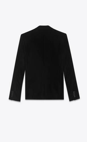 veste classique en velours lisse et satin