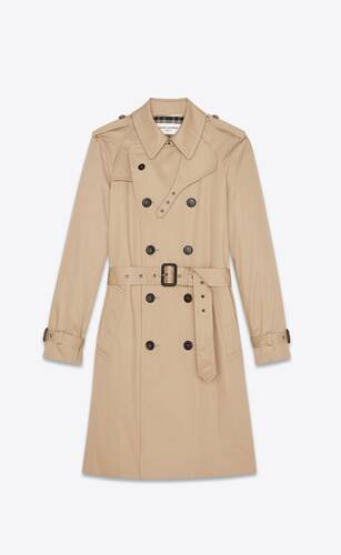 saint laurent trench coat in gabardine
