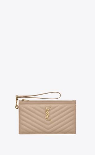 monogram große brieftasche aus leder mit grain-de-poudre-prägung