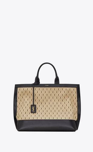 le monogramme tote in canvas and smooth leather