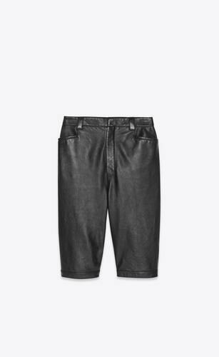 bermuda cycling shorts in vintage drummed lambskin