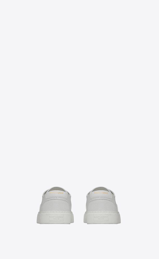 sneakers venice de piel perforada y granulada