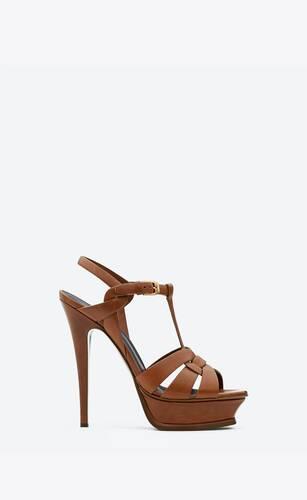 sandalias de plataforma tribute de piel lisa