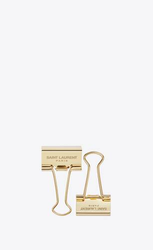 gold metal foldback clips