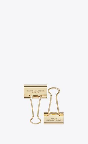 gold metal foldback clips