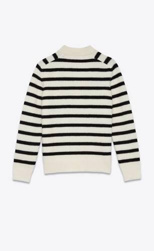 pull col montant en laine feutrée