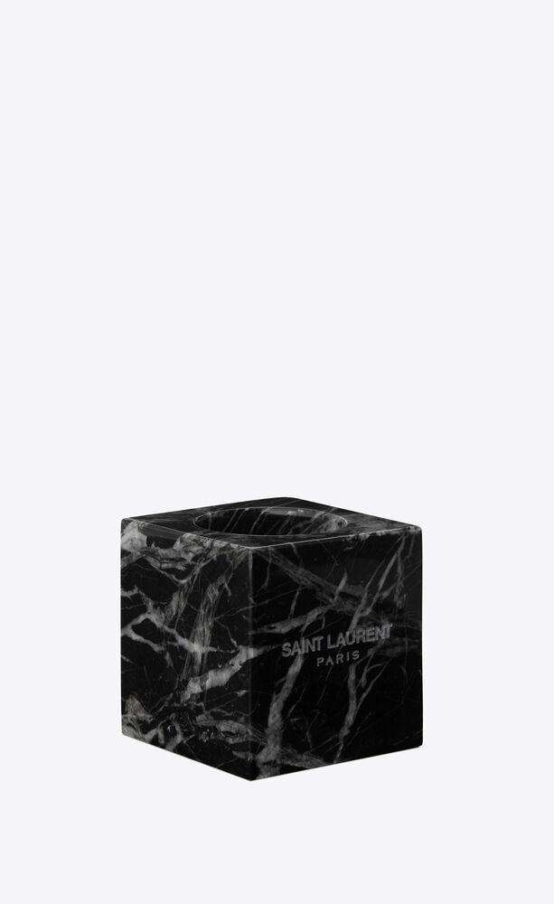 bougeoirs cube en marbre