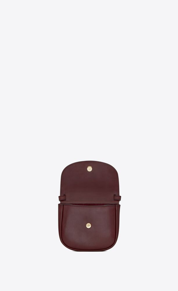 kaia small satchel in smooth leather