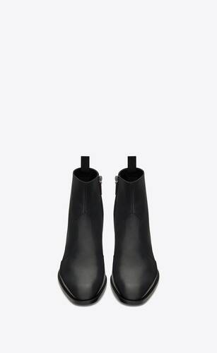 wyatt zipped boots in smooth leather