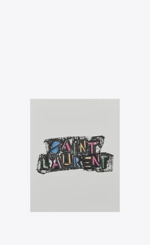"""saint laurent felt tip"" print notebook"