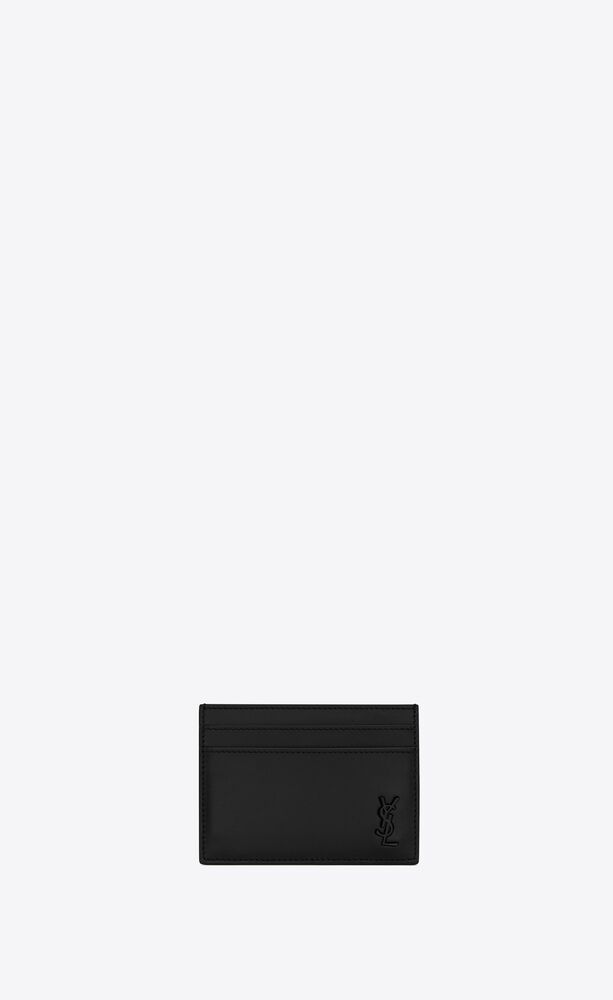 tiny monogram kartenetui aus mattem leder