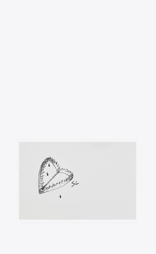 """heart trap"" postcard"