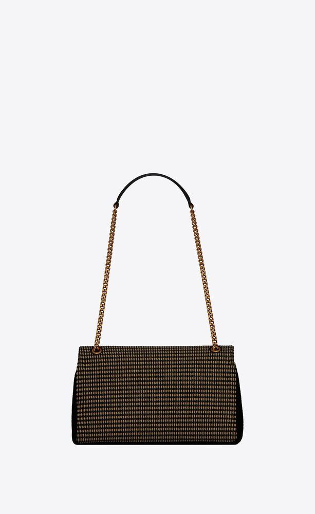 rive gauche sac à chaîne en coton brodé