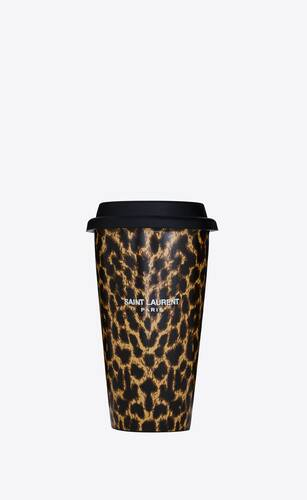 leopard print coffee mug in ceramic