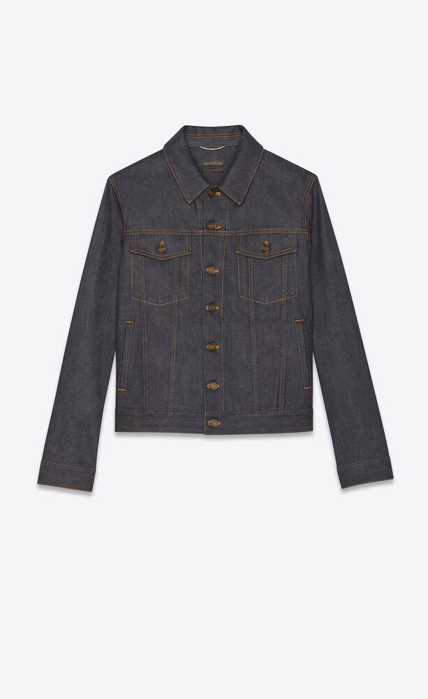 jacket in indigo raw denim