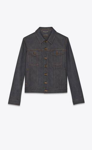 jacket in indigo raw denim