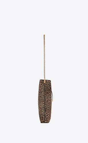 bolso estilo hobo pequeño suzanne de piel con estampado de jirafa efecto poni