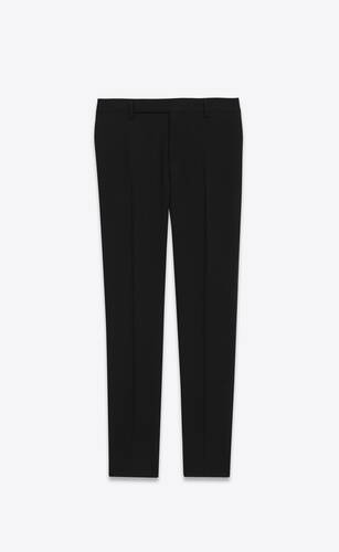 tailored pants in saint laurent gabardine