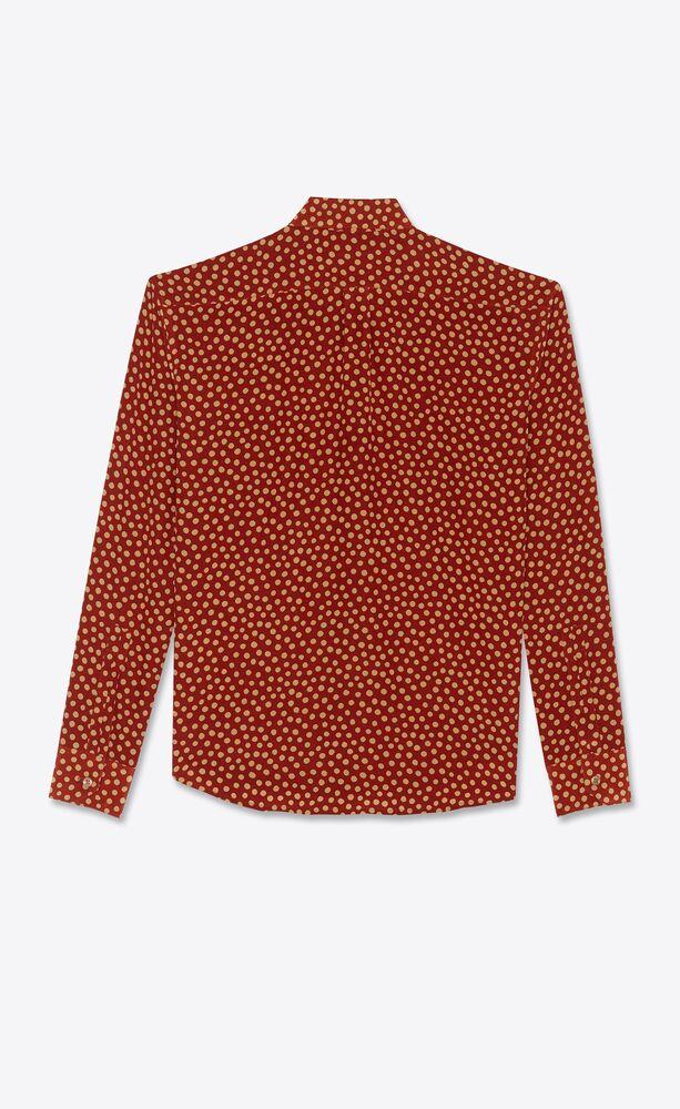 fawn polka dot cropped shirt in silk