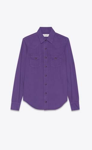western shirt in authentic purple denim
