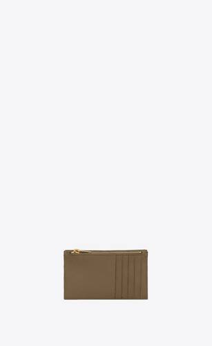monogram fragments flap card case in quilted grain de poudre embossed leather