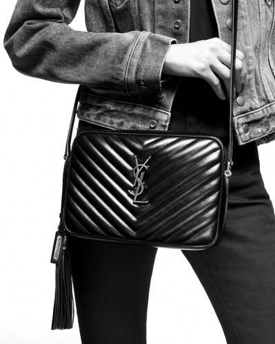 lou camera bag in matelassé leather