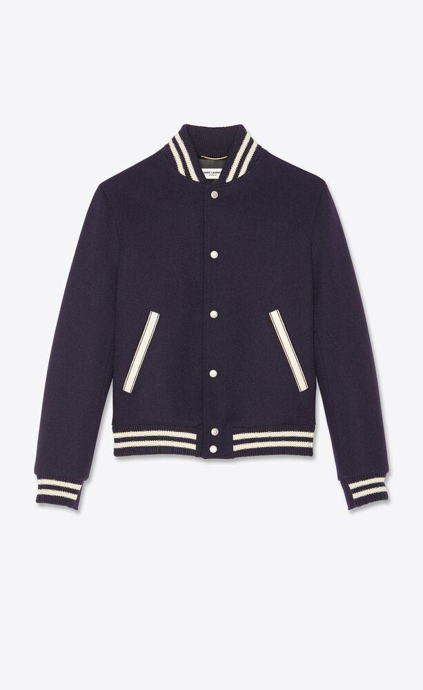 chaqueta teddy saint laurent de lana