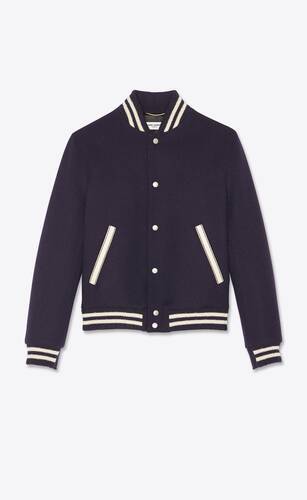 chaqueta teddy saint laurent de lana