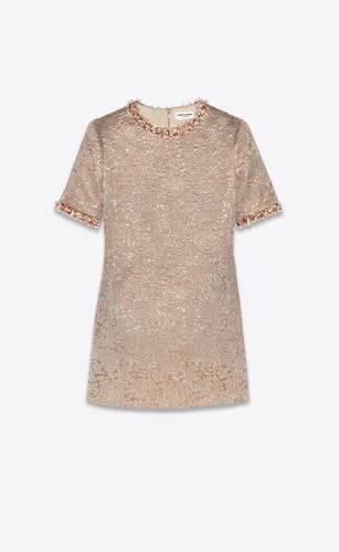 mini dress in embroidered brocade