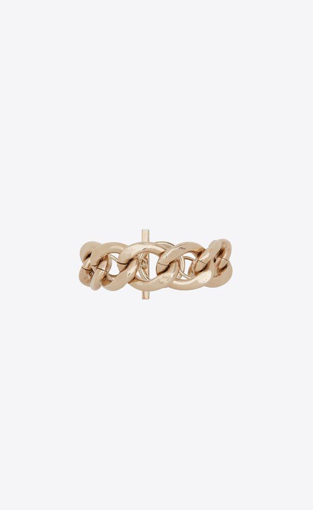 large chain bracelet in metal