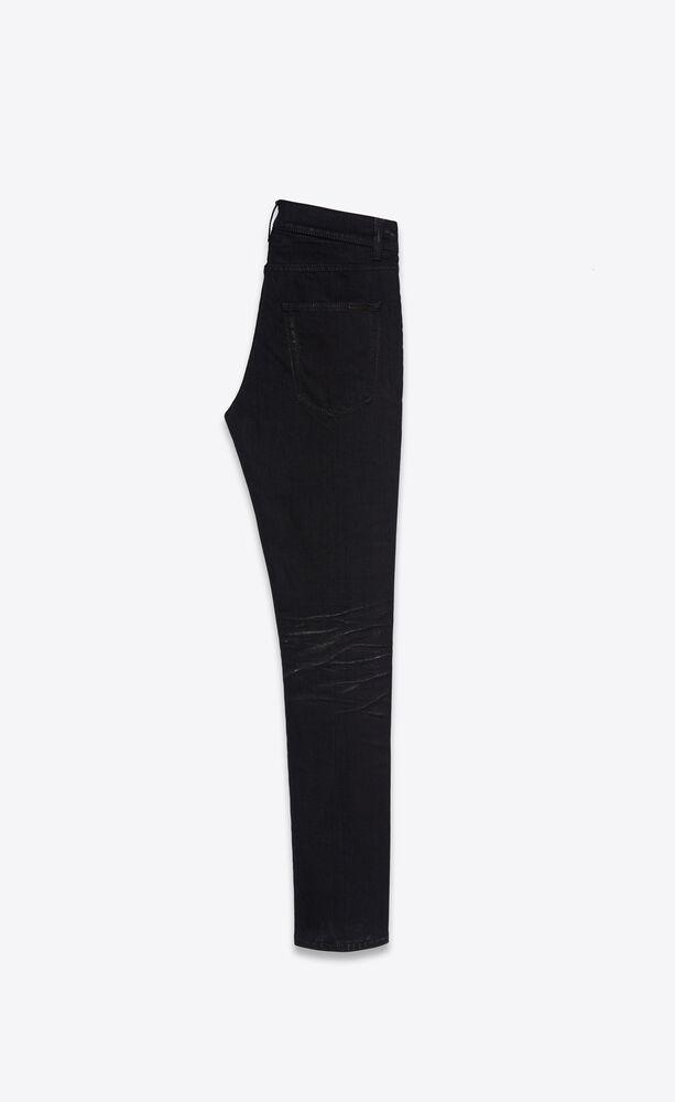 jean skinny stretch silver black