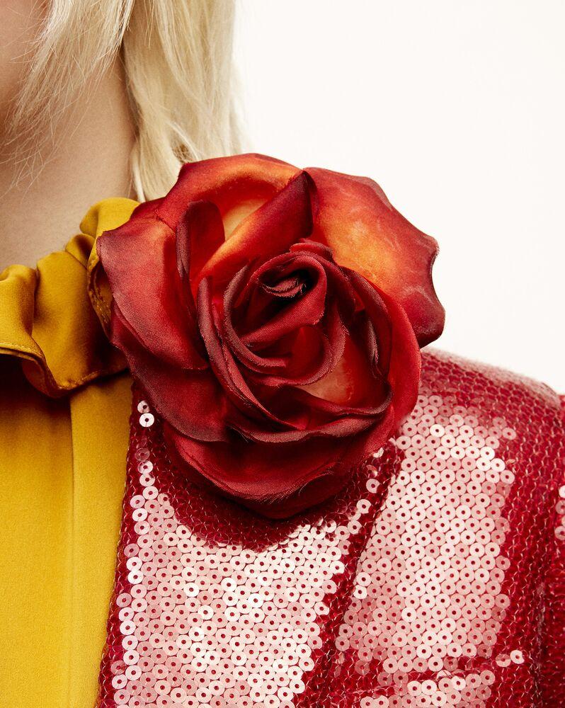 dégradé rose brooch in silk satin