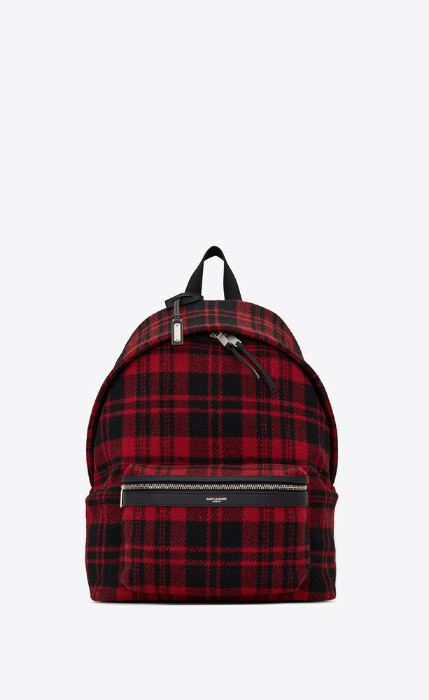 city backpack in tartan