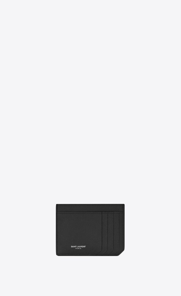 id card case in grain de poudre embossed leather