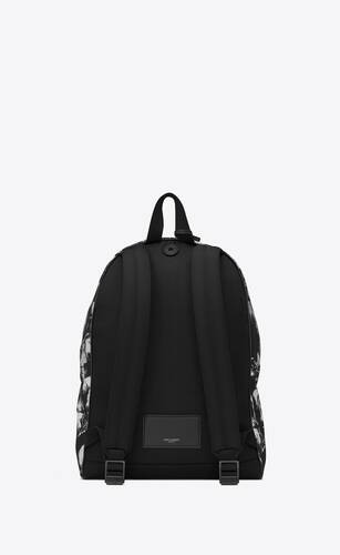 city backpack in palm-print nylon