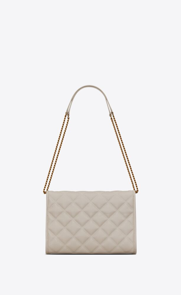 becky mini chain bag in carré-quilted lambskin