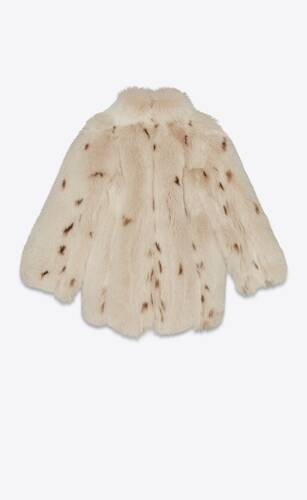 manteau en fourrure de renard imprimé lynx