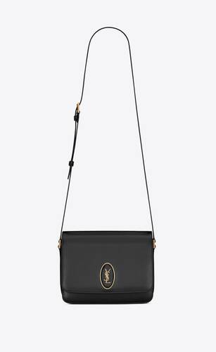 le 61 framed medium saddle bag in smooth leather