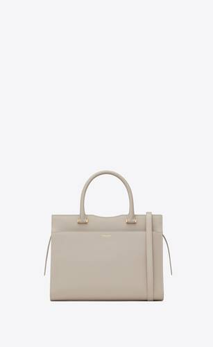 uptown medium tote in grain de poudre embossed leather